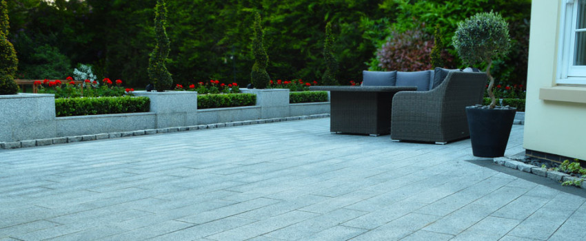 Fraser Landscapes - Granite Patio - Surrey