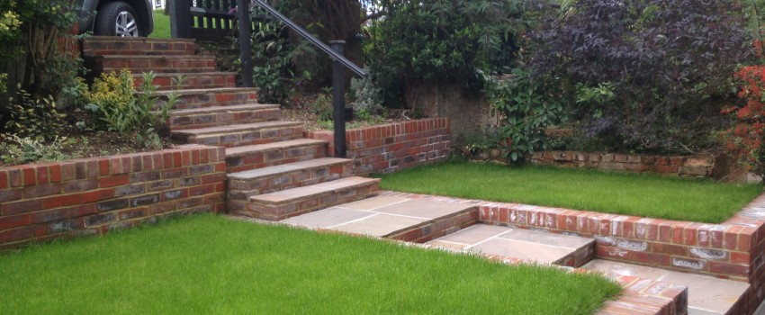 Kenley Brick Wall & Paving